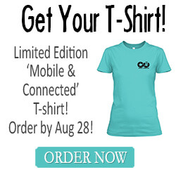 Get Your Mobile & Connected T-Shirt!!