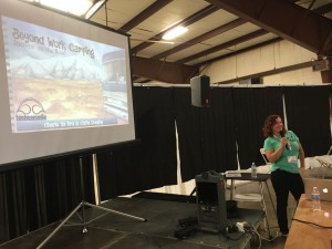 """""""Beyond Work Camping"""" - one of the three presentations we gave on a very packed Wednesday!"""