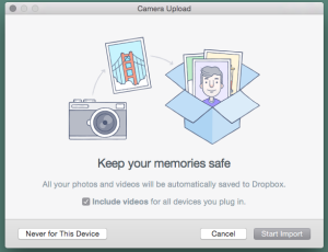 With serendipitous timing, Dropbox popped up a window asking for permission to upload every photo and video on my iPhone right as I was writing this article. Be careful - the default answer is YES.