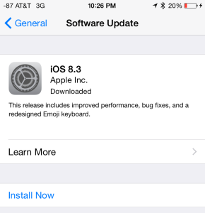"If you see ""Downloaded"" when you check the Settings App under ""General"" and ""Software Update"", your iOS device has already downloaded the update. Doh!"