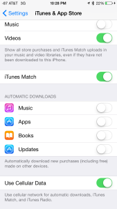 """The """"Automatic Download"""" settings apply only to app updates, NOT iOS updates."""
