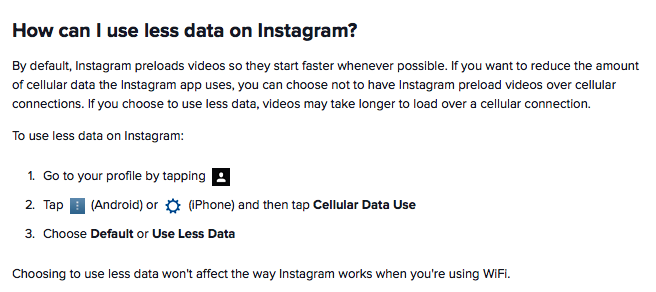 how to delete facebook data usage