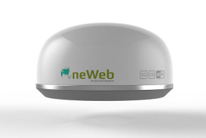 OneWeb's ground terminal does not need to be aimed, and it creates a local WiFi and LTE hotspot for connecting your devices.
