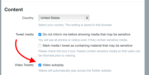 twitter video auto playback
