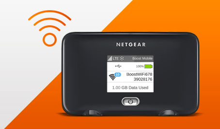 The new Netgear Fuze offered by Boost Mobile on the Sprint Network.