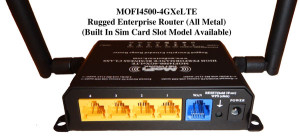 The rear of the MoFi features five wired ethernet ports.