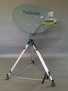 The RTC tripod kit (shown here) is the first ever to support Ka-band spot-beam satellite service.