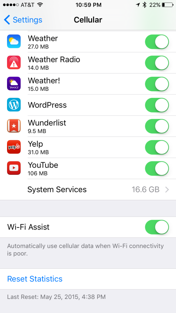 Wi-Fi Assist is great... Most of the time. But for more control over your usage, you can turn it off.