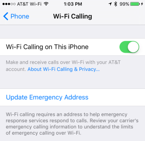 Just flip a switch under the Settings / Phone menu to enable Wi-Fi calling.