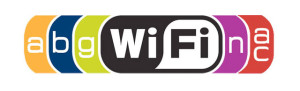 The letters included in the Wi-Fi compatibility logo indicate which network standards are supported.
