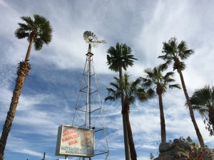 The beautiful fake palm tree towering over this RV parks is actually a Verizon tower.
