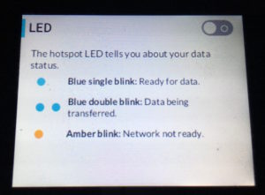 Screenshot of the options to disable lighting on a mobile hotspot