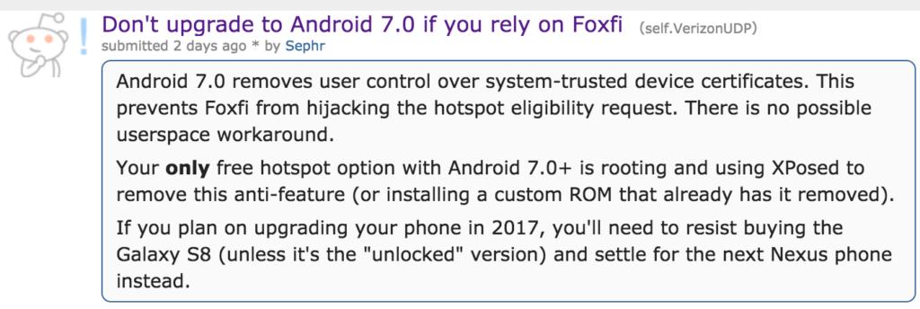 FoxFi Warning