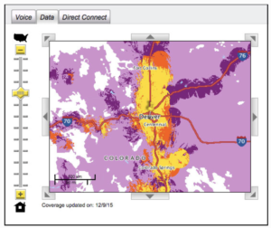Calyx's Instructions to determine the coverage areas on Sprint's maps: 1) Click on the data tab 2) Zoom in on your area of the map 3) Look at the yellow and orange – Spark and 4G LTE