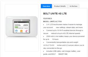 Bolt Unite Hotspot