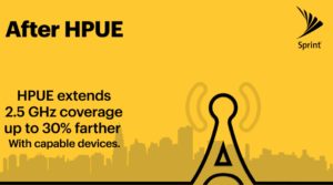 Sprint is claiming up to a 30% increase in range thanks to HPUE technology.