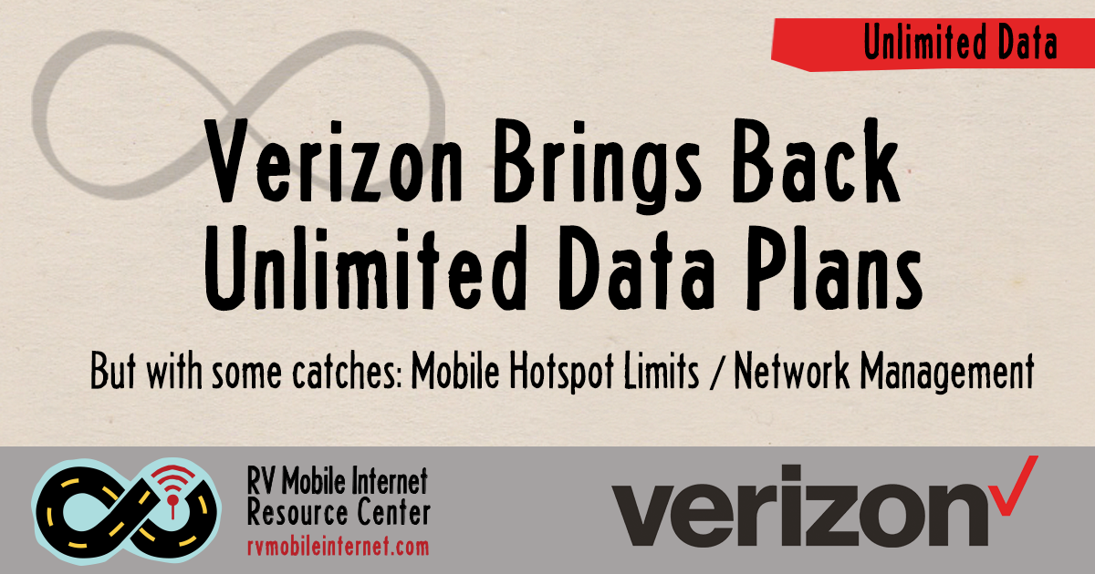 Verizon Brings Back Unlimited Data Plans - With Some Catches