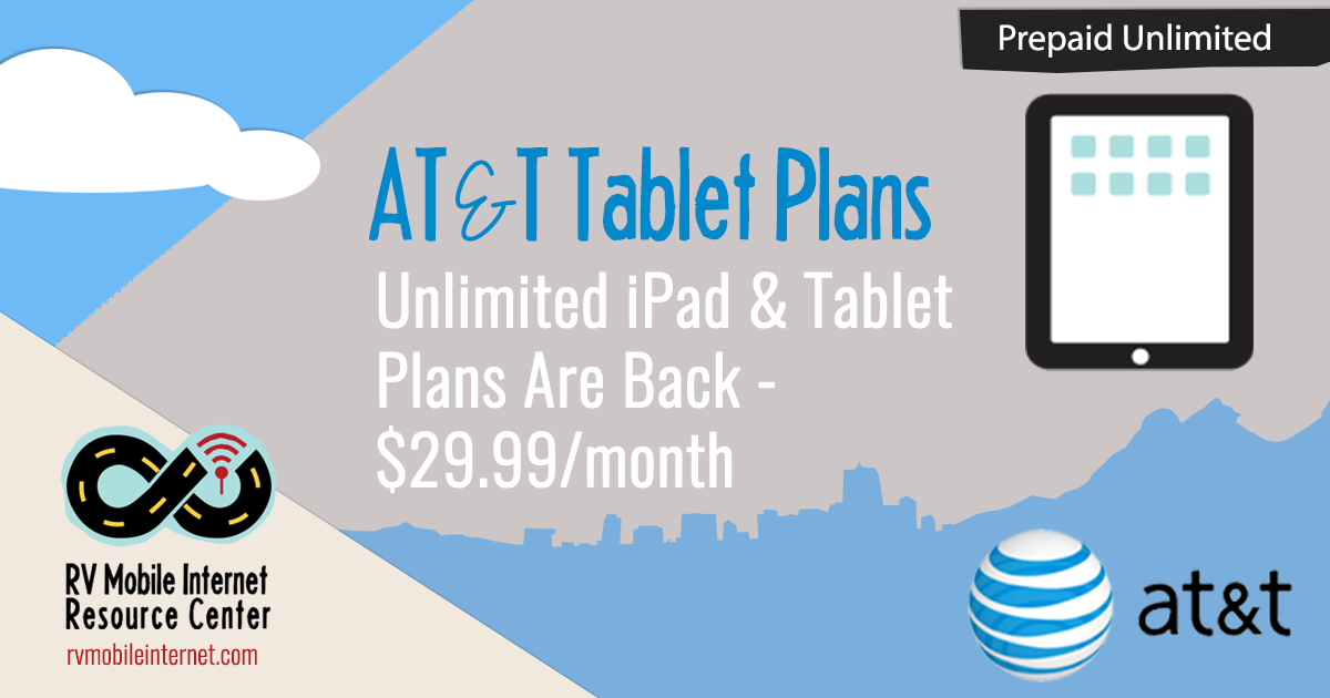 AT&T Brings Back Unlimited Tablet Plan for $29 99/month