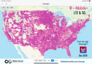 T-Mobile coverage as of December 2020
