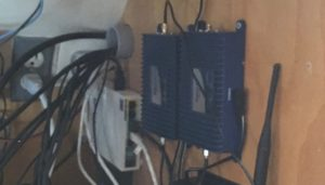 Picture of PVC conduit to bring cabling into a tech cabinet