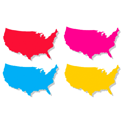 US Maps in different colors