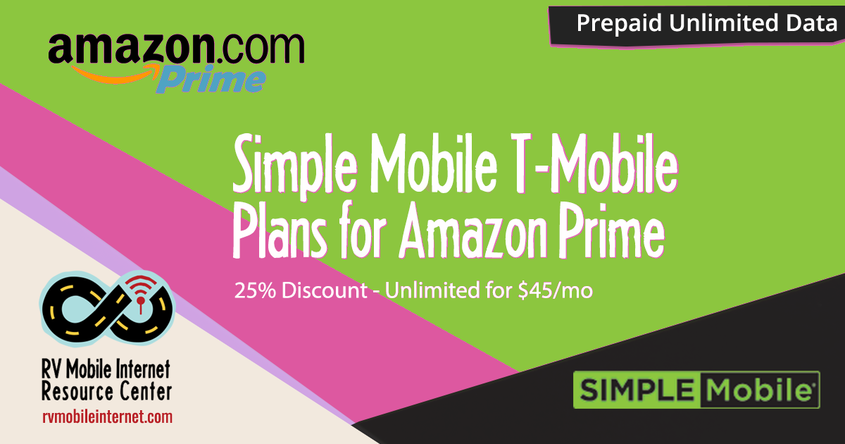 Simple Mobile T-Mobile Plans Discounted for Amazon Prime Customers