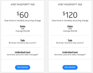 2019-04-23 AT&T Monthly Passport Package