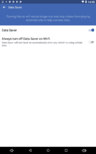 Android Facebook App Data Saver