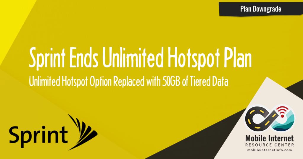 Sprint Ends Unlimited Hotspot Plan