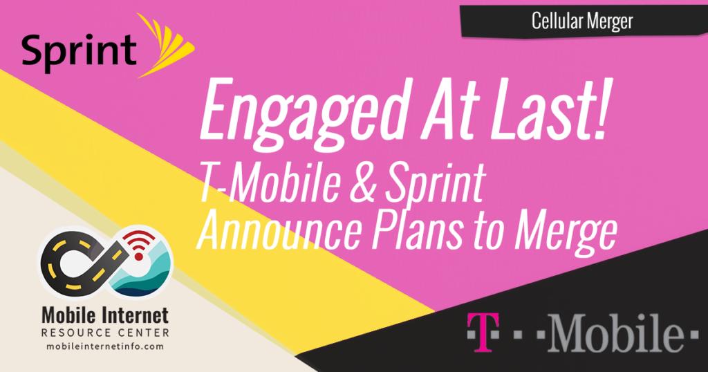sprint t-mobile announce cellular merger