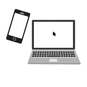 smartphone and laptop icons