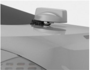 Picture of an installed Trunk Mount