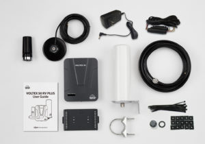 Voltex RV Cellular Booster Kit Components