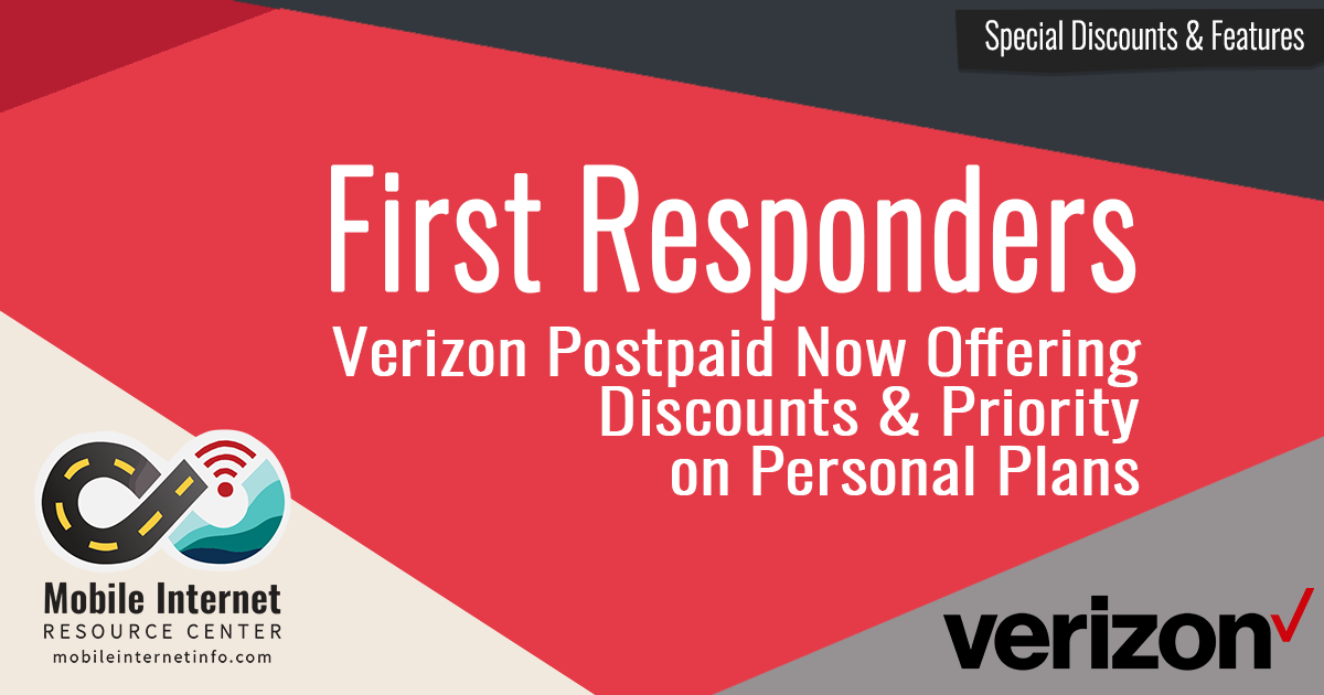 Verizon Now Offering First Responders Discounts and Priority