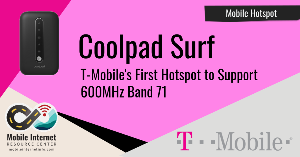 Header Image for T-Mobile Coolpad Surf mobile hotspot article