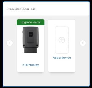 Screenshot of Mobley upgrade option on AT&T website