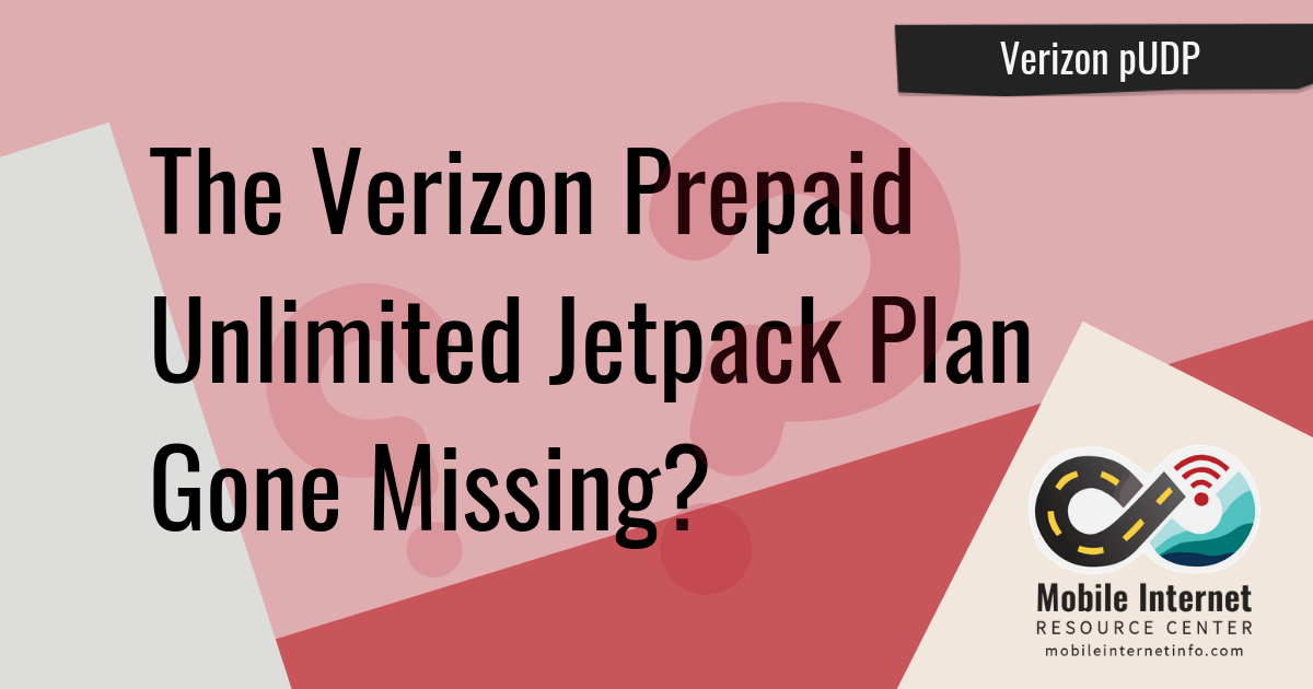 Verizon pUDP has gone missing