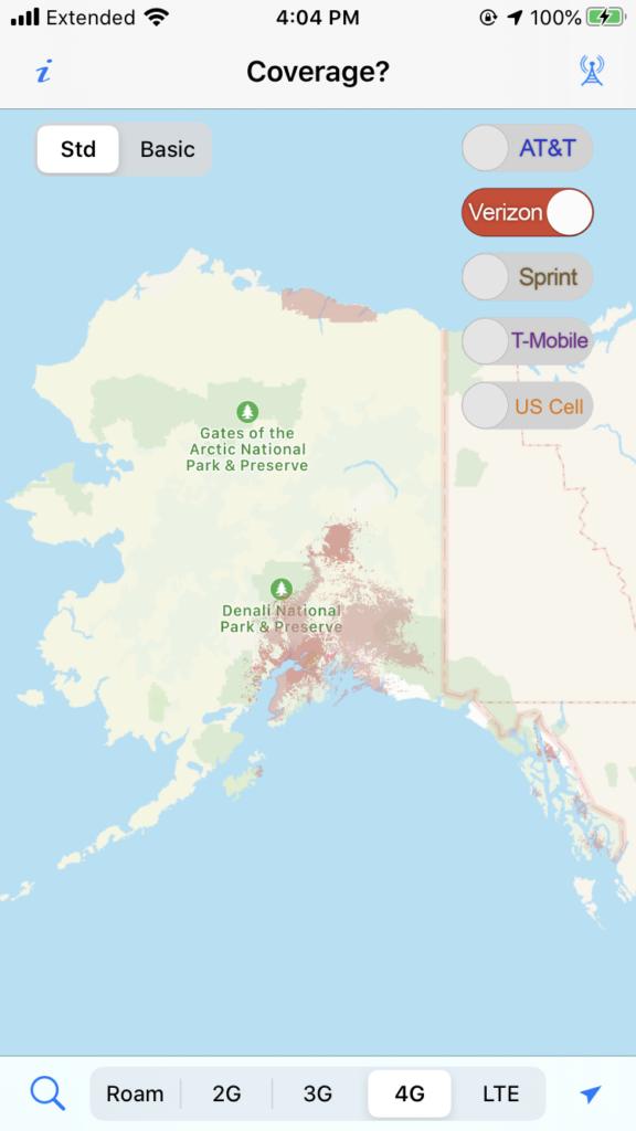 Coverage? app screenshot of Alaska