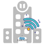 library with Wi-Fi icon