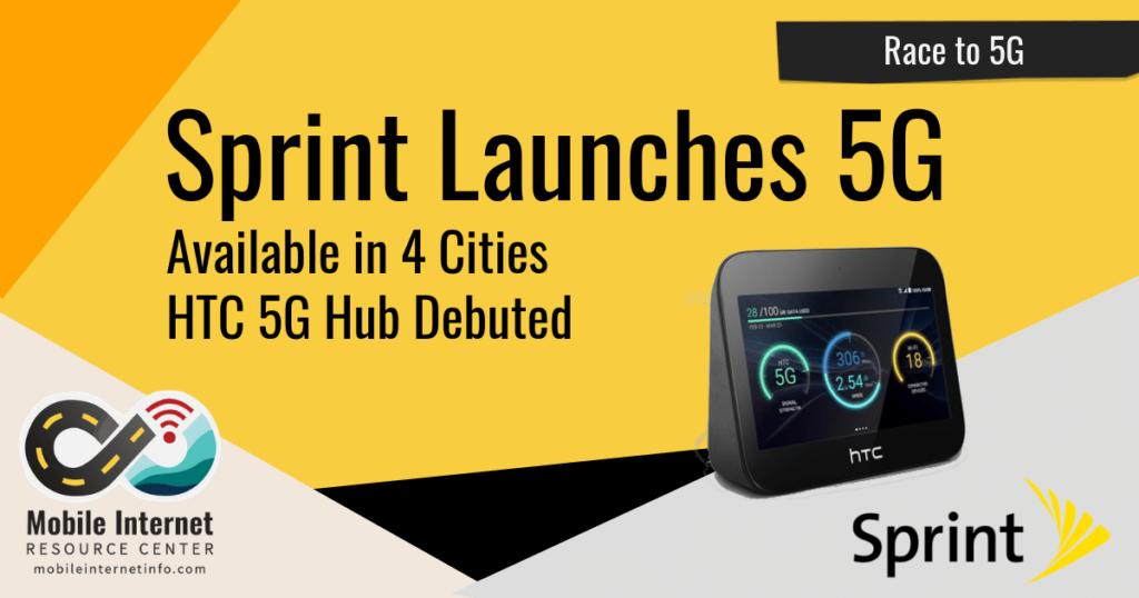 sprint 5g launch htc 5g hub