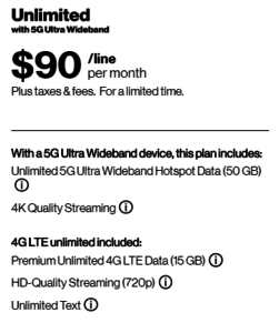Verizon 5G Data Plan Details