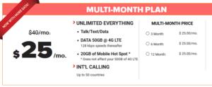 Black Wireless Plan screenshot