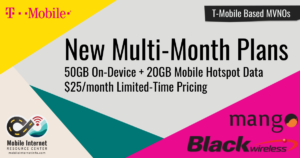 Mango Mobile and Black Wireless MVNOs Offer New $25 Multi-Month Plans Story Header