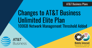 AT&T Adds Network Management at 100GB to Business Unlimited Elite Plan Header