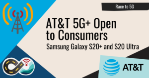 AT&T 5G+ Open To Consumers - Samsung Galaxy S20+ and S20 Ultra header