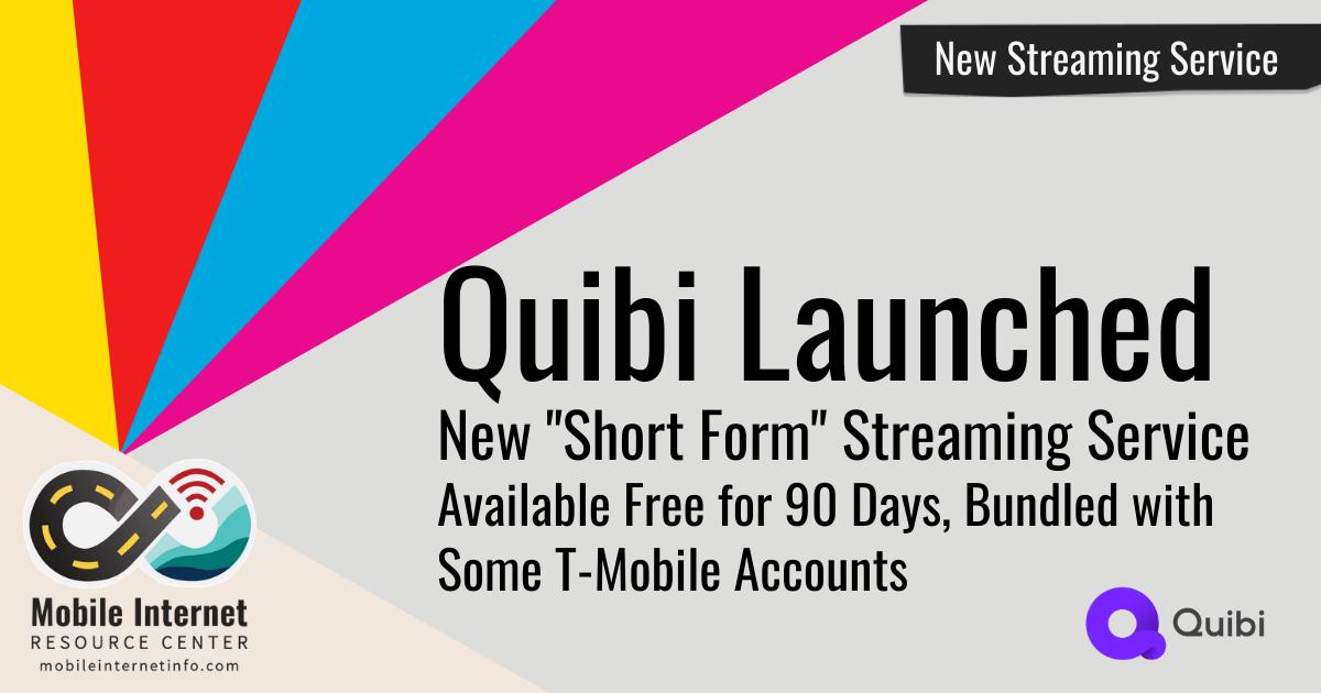 Quibi Launch header