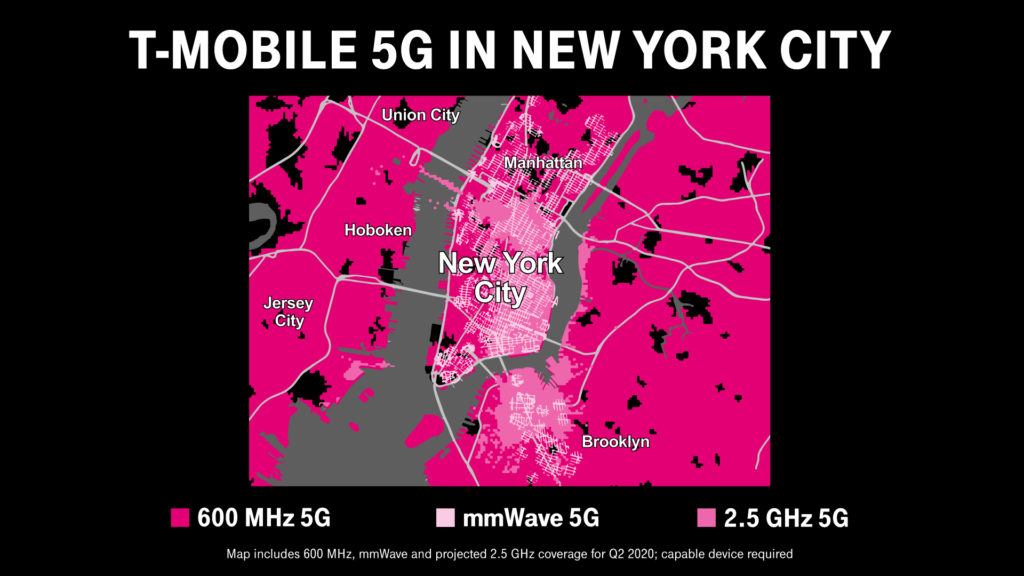 T-Mobile 5G in New York City Map