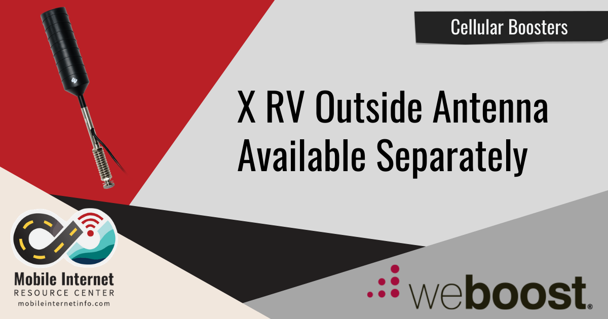 weBoost X RV Outside Antenna Available Separately header