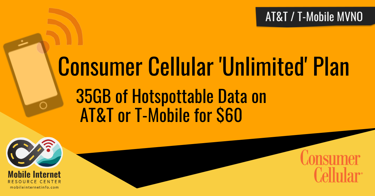Consumer Cellular Offers New 'Unlimited' Plan With Mobile Hotspot Capability for $60 Header