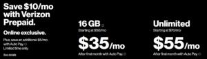 Verizon Prepaid 10dollar Promo